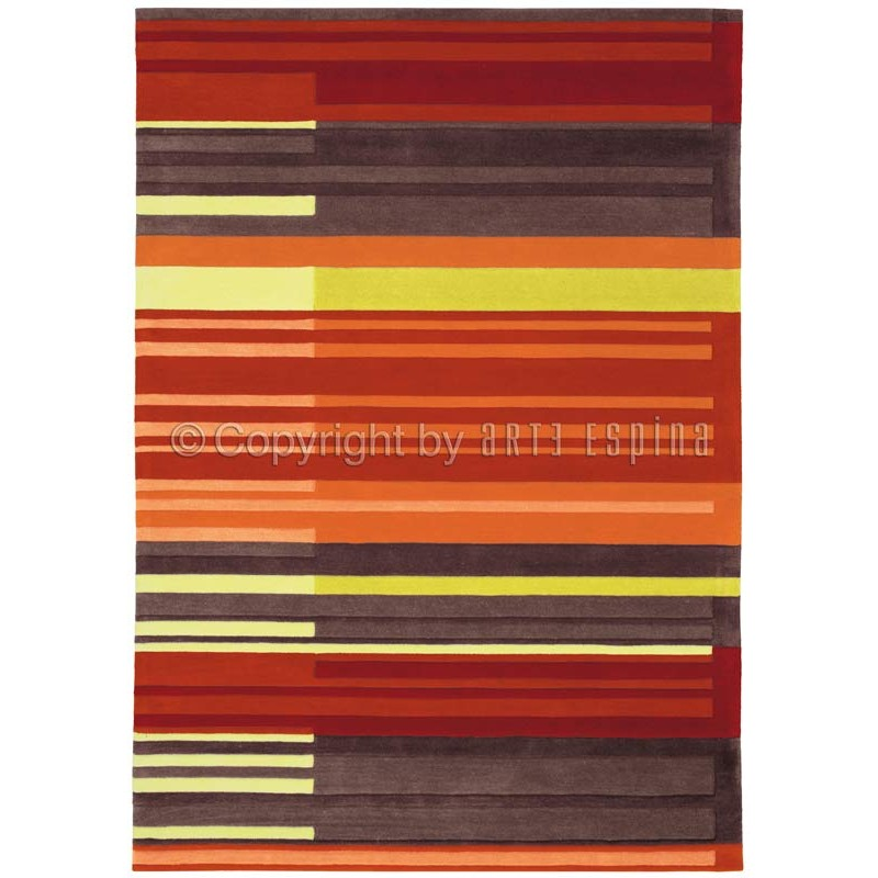 Tapis arte espina colour codes orange for Tapis de cuisine orange