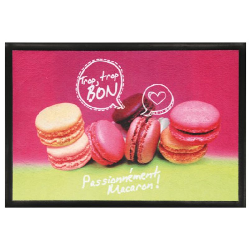tapis de cuisine macarons rose 40x60cm. Black Bedroom Furniture Sets. Home Design Ideas