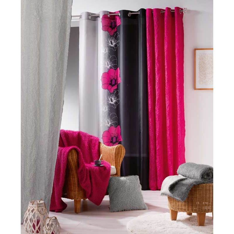rideau occultant maeva fuchsia 140x240cm. Black Bedroom Furniture Sets. Home Design Ideas